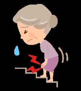 膝を痛がるおばあちゃん