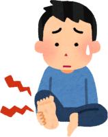 足の裏が痛い男性