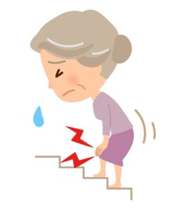 膝が痛いおばあちゃん