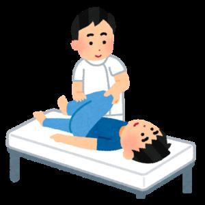 検査を行う術者と患者